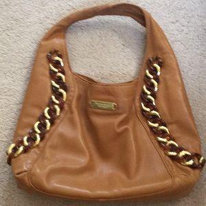 Michael Kors Leather ID hobo bag-caramel color
